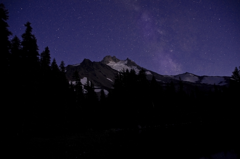 Milky Way Over Mt Jefferson