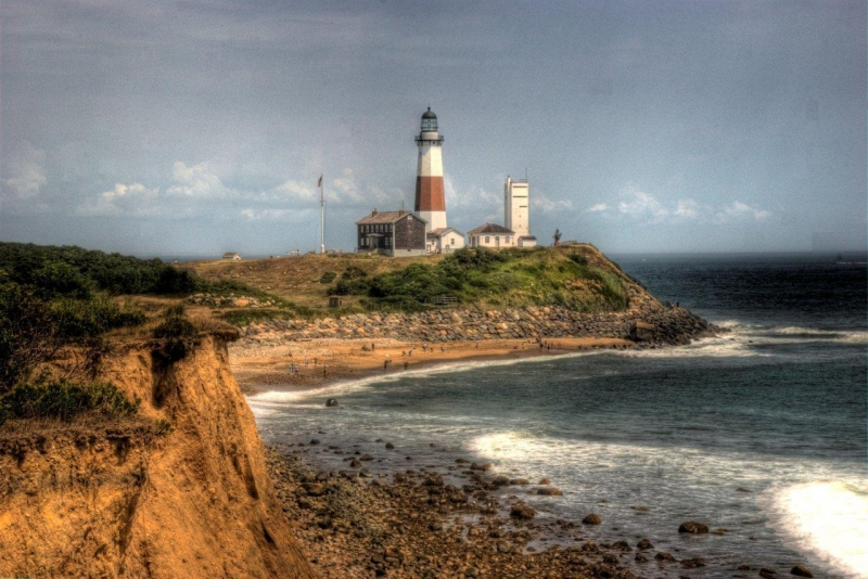 Montauk Lighhouse From Camp Hero (hdr)