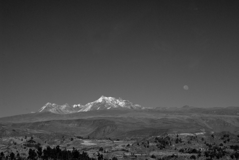 Moonrise On The Road To Colca Canyon