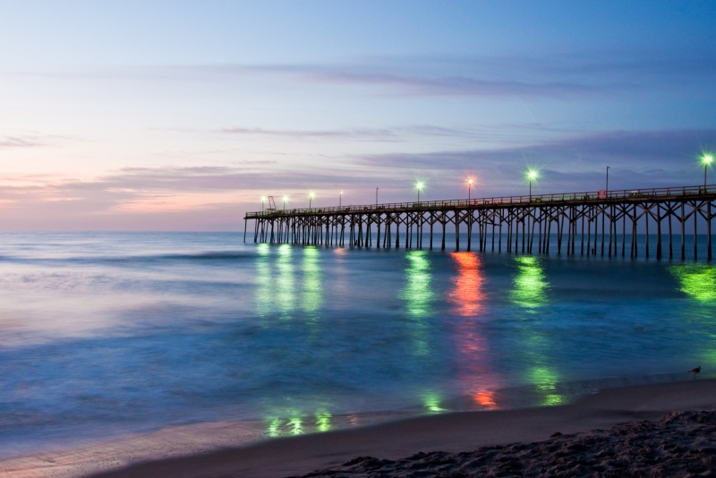 Morning Pier Lights