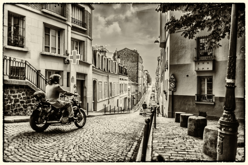 Motorcyclist In Montmartre