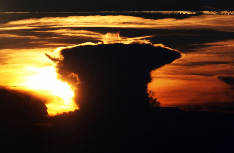 Mushroom Cloud At Sunset