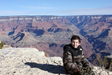 My Son At Grand Canyon