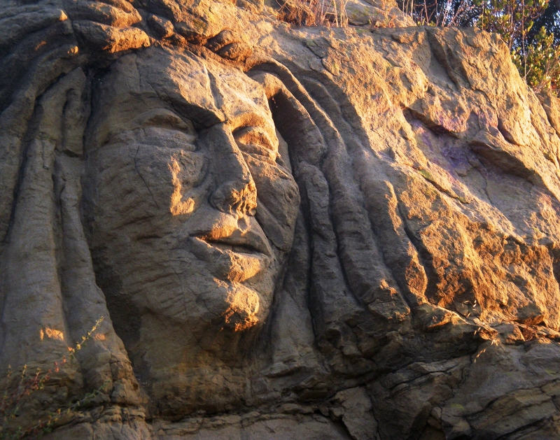 Native Amerian Stone Face