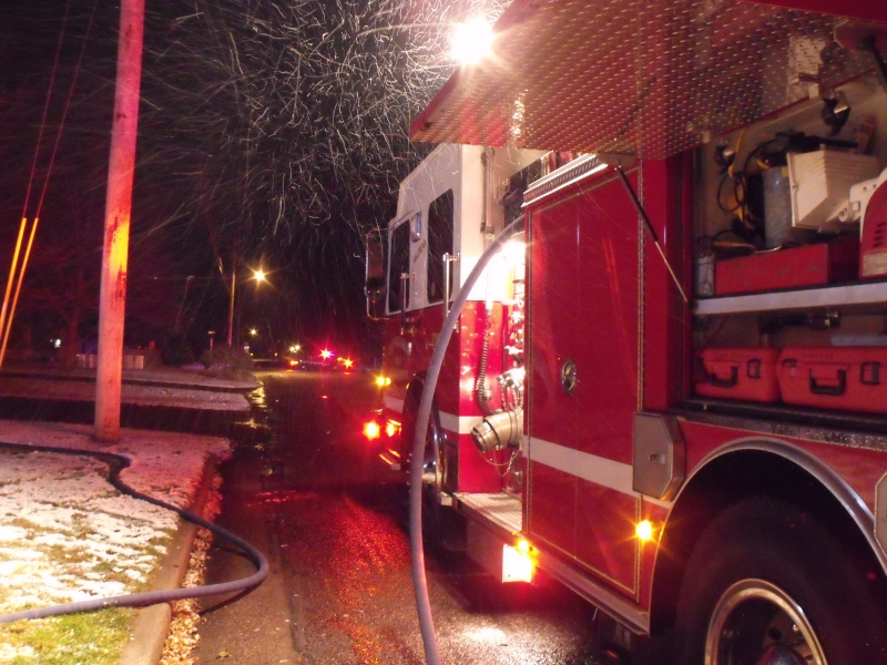 Neat Winter Photo At A Fire In 2011