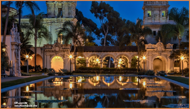 Night Shot At Balboa Park