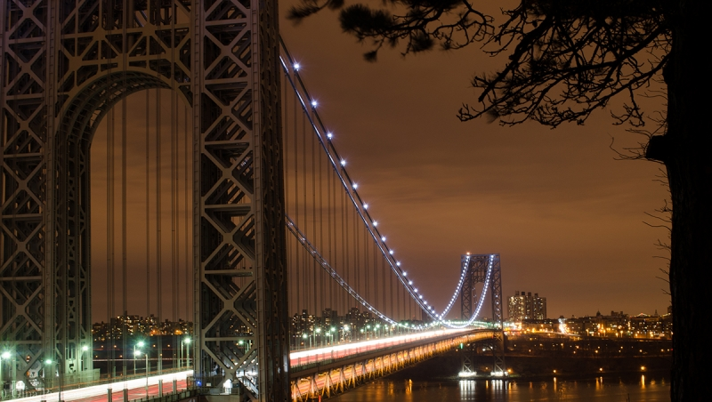 Night Time West On The Gwb