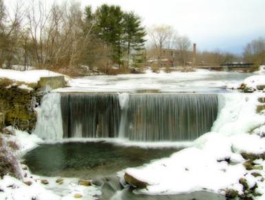 North Bennington Falls In Winter