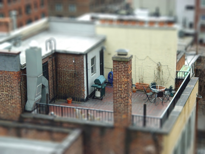 Nyc Rooftops In 'Miniature'