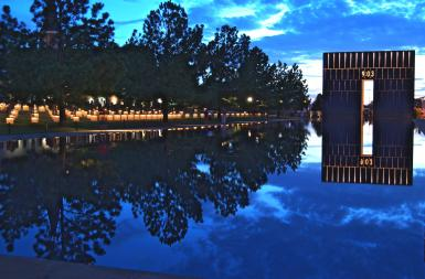 Okc Memorial At Nite