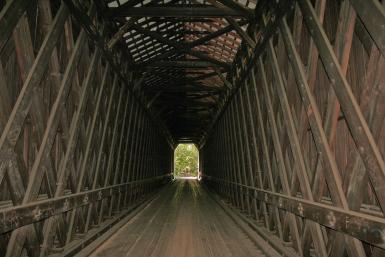 Old Railroad Covered Bridge