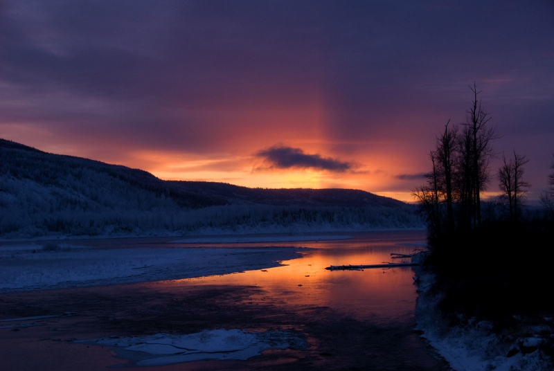 Peace River Sunset