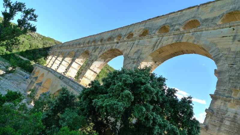 Pont Du Gard Late In The Day