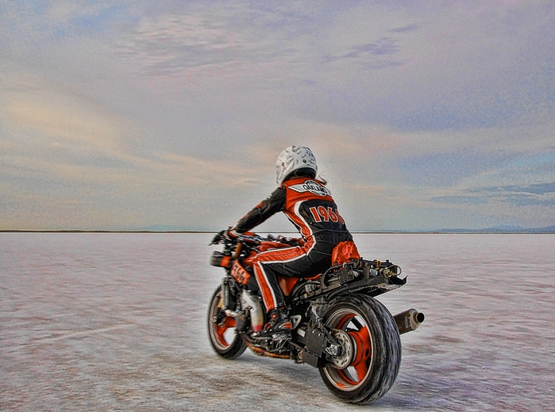 Racy Tracy At Bonneville Salt Flats