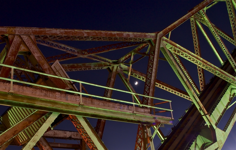Railroad Tressel Moon