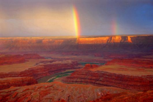 Rainbow At Deadhorse Point