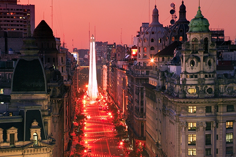 Red Night Over Buenos Aires