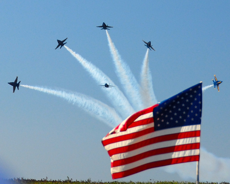Red, White And Blue Angels