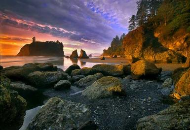 Ruby Beach Aglow