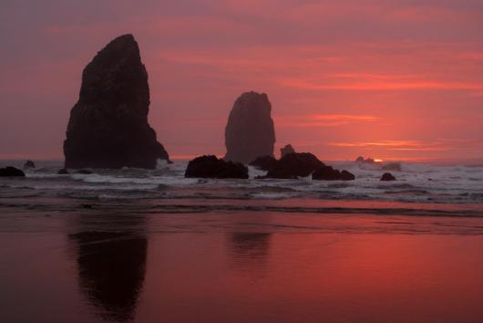 Sea Stacks Sunset