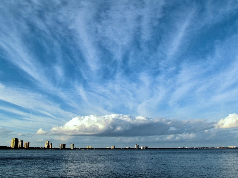 Sky Clouds And Water Over Tampa Bay