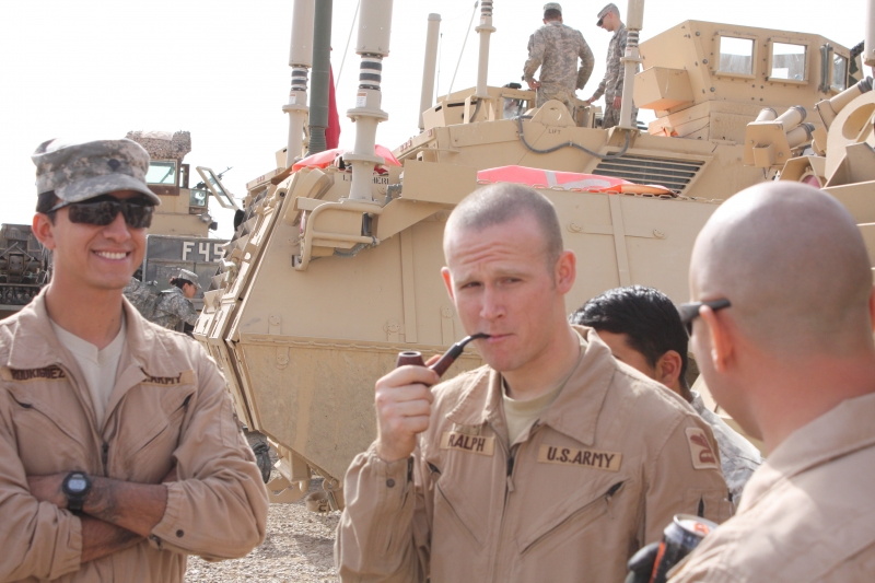 Smoke Break In Iraq