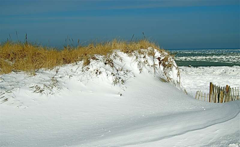 Snow Covered Sand Dune