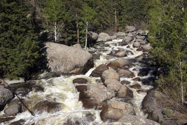 Snow Melt At Rocky Mountain National Park