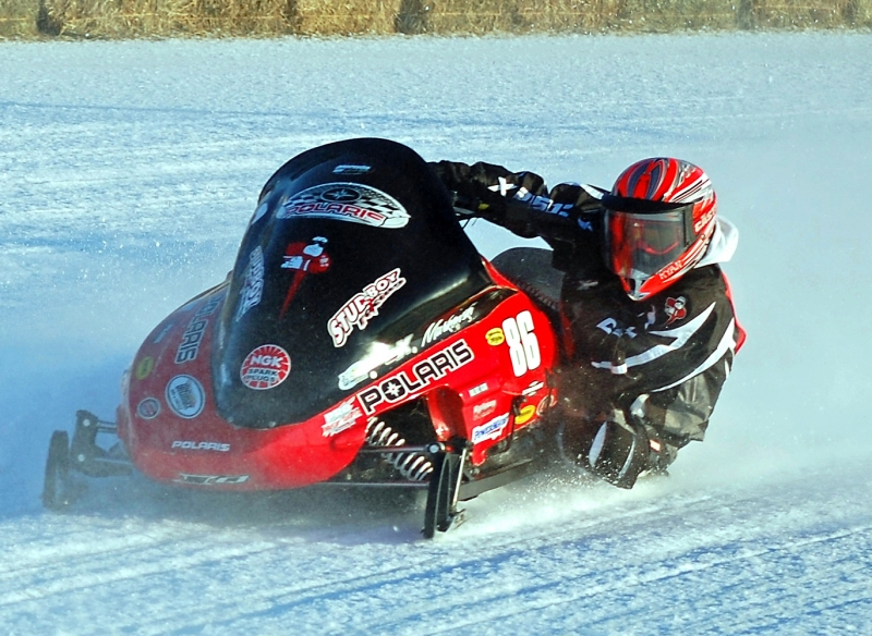 Snowmobile Racing.