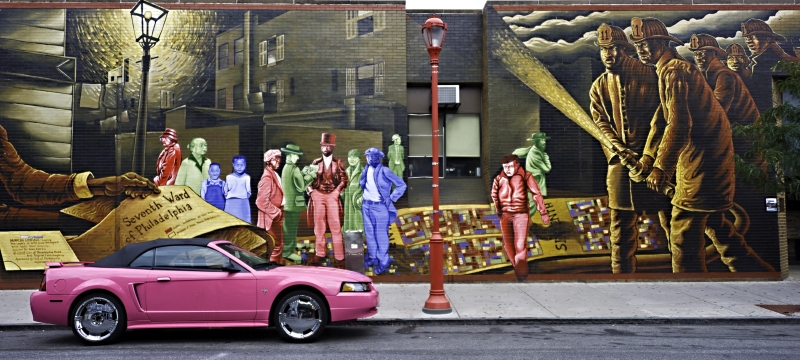 South Street Philadelphia Mural And Car – 2