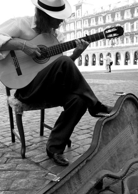 Spanish Guitar In La Plaza Mayor