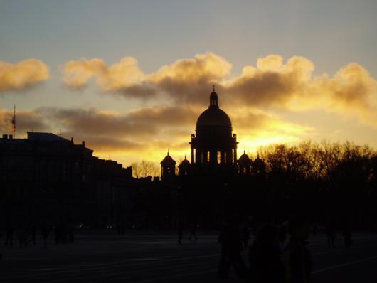St. Isaac's Cathedral At Sunset