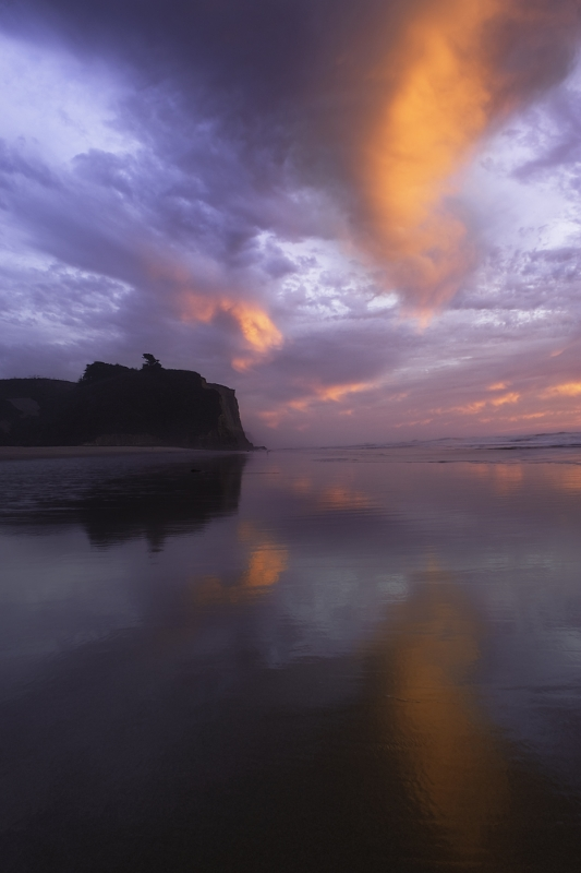 Stormy Sunset At Pomponio Beach