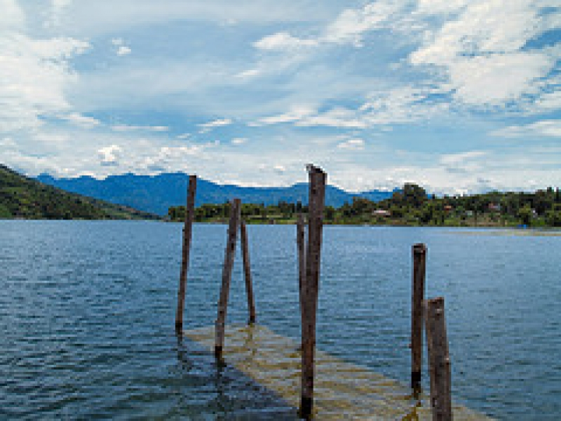 Submerged Boat Dock, Lago De Atitlan