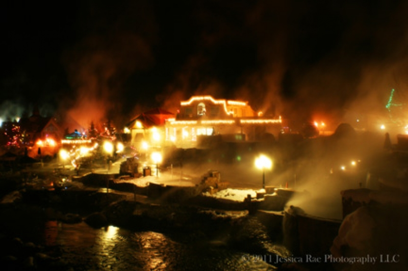 Sulfur Springs Steam At Christmas
