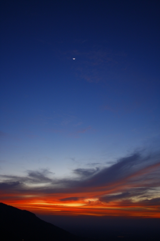 Sunset And Moonrise