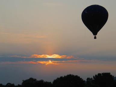 Sunset  At Balloon Festival
