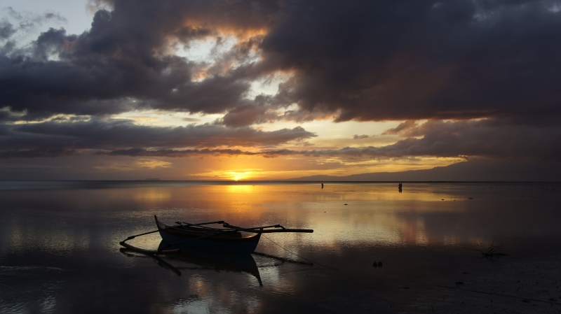 Sunset At Coral Cay Resort,siquijor,philippines