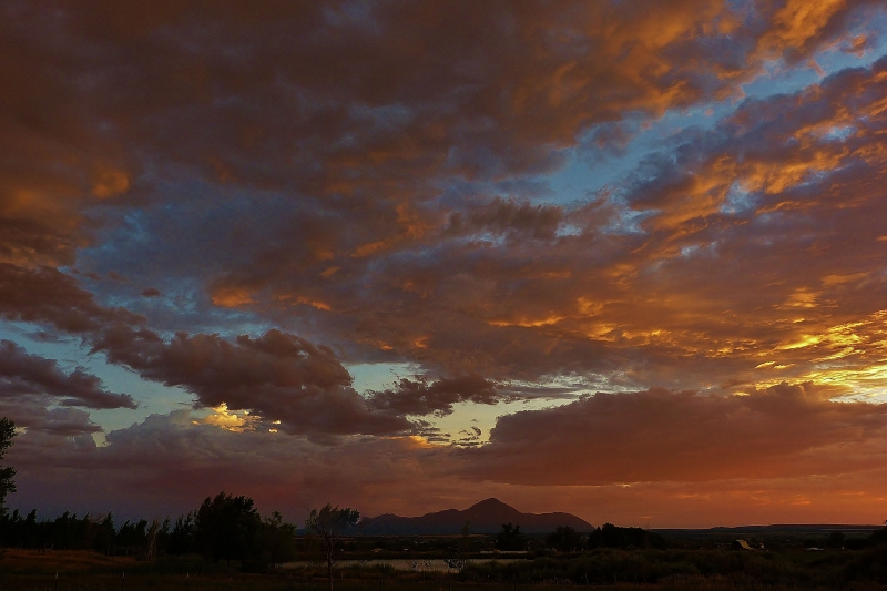 Sunset At Sleeping Ute Mountain
