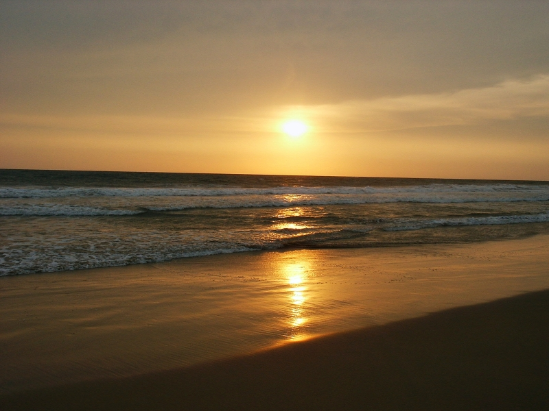 Sunset In  Kerela – Varkala Beach