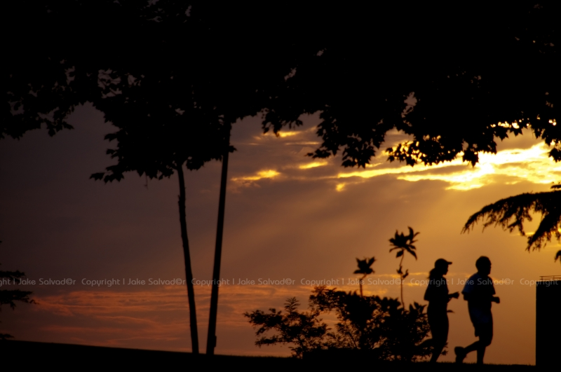 Sunset Jogging Silhouette