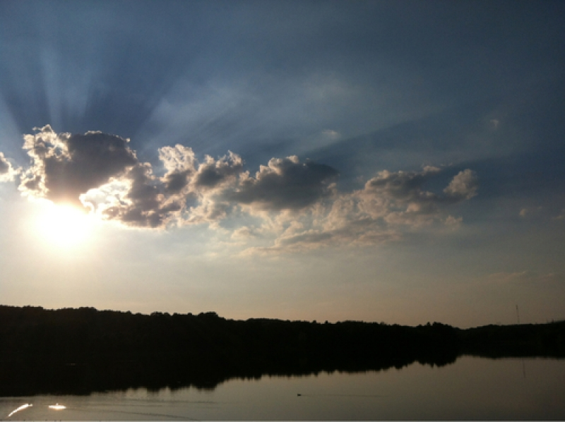 Sunset Over Silvercreek Lake
