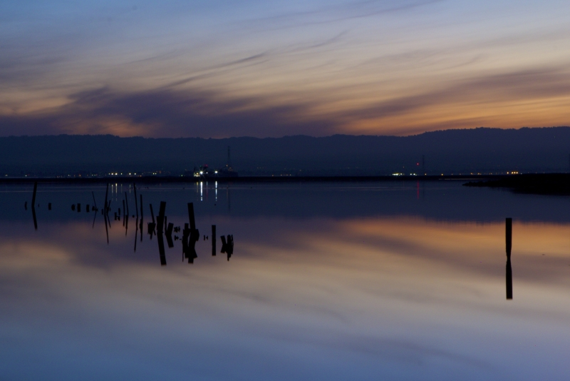 Sunset Reflected In The Bay