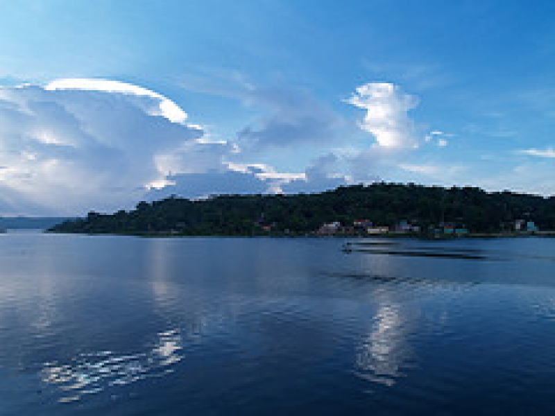 Sunset Storm Clouds, Lago De Peten Itza