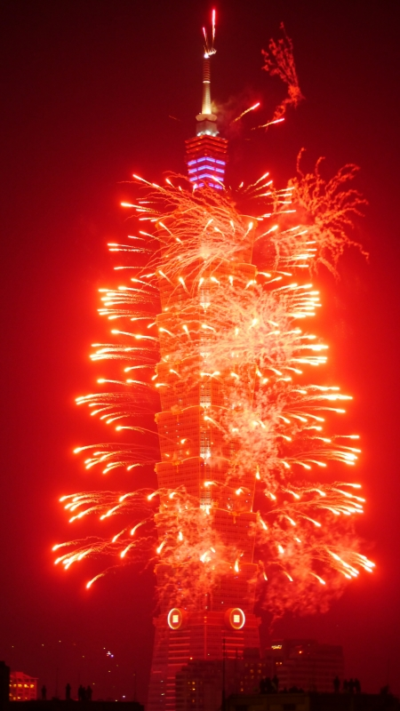 Taipei 101 Fireworks, New Year's Eve