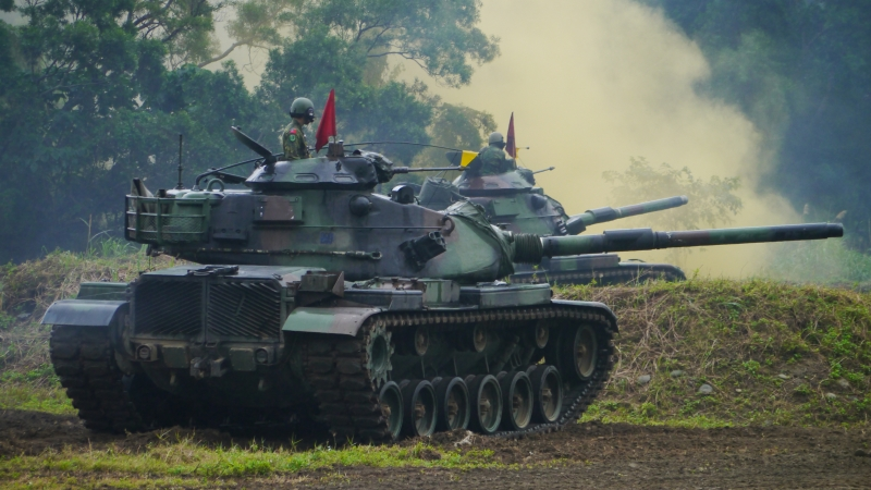 Taiwanese M60a3 Mbts At Huadong Defense Command