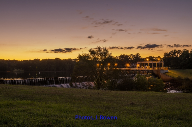 Tar River Dam After Sunset