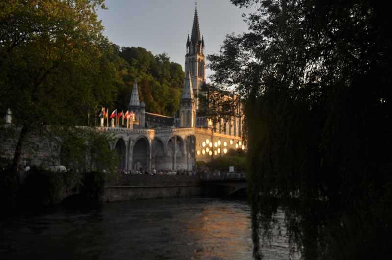 The Rosary Basilica In Lourdes