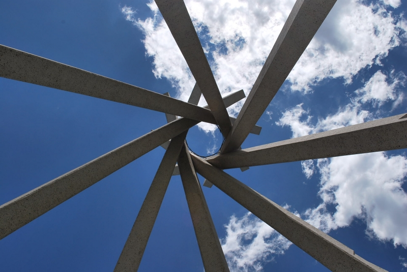 The Sky Through The Tipi Center