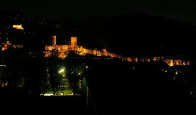 Ticino's Capital By Night